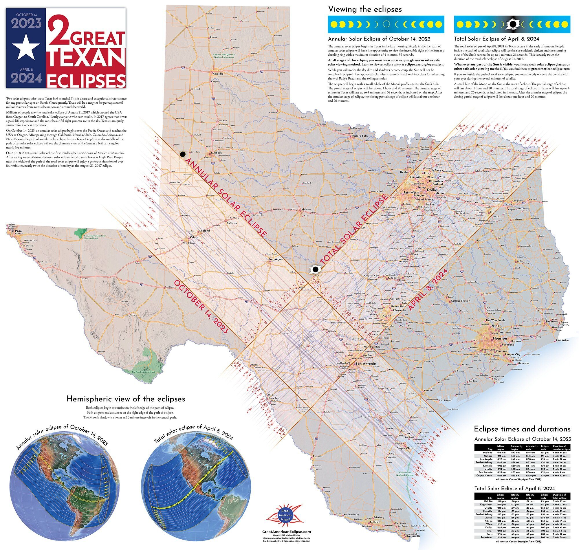 Texas Eclipse Map