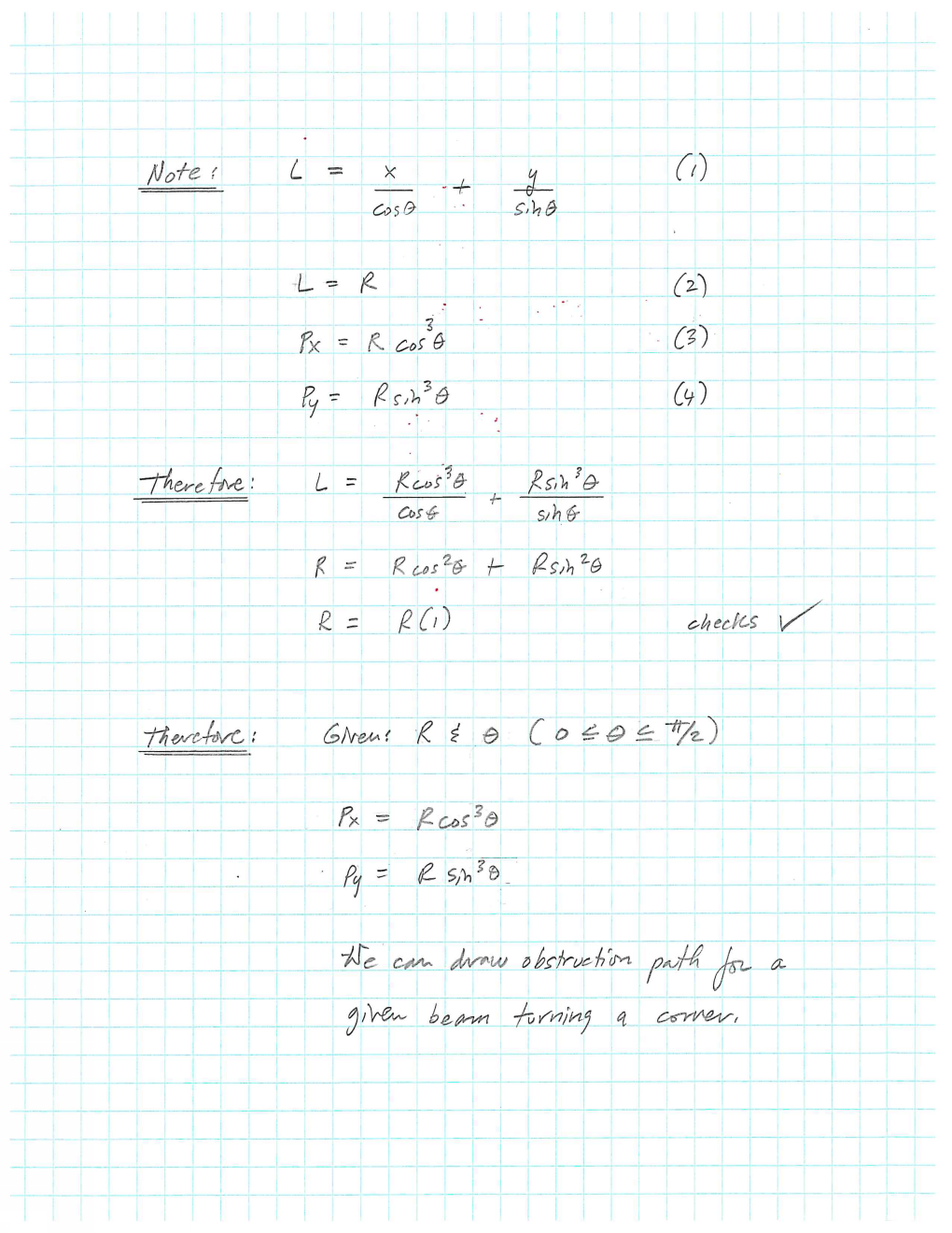 Extent of beam path calculations (4)